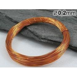 Měděný drát 0,2mm lakovaný - 5m