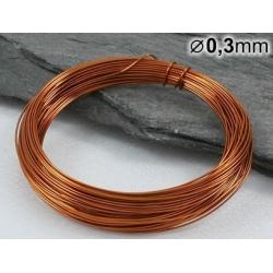 Měděný drát 0,3mm lakovaný - 5m