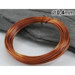 Měděný drát 0,4mm lakovaný - 5m