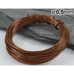 Měděný drát 0,5mm lakovaný - 5m