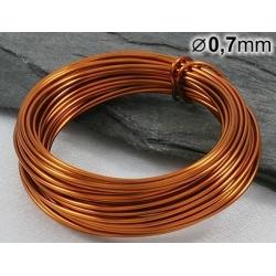 Měděný drát 0,7mm lakovaný - 5m