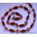 Spirálkový náhrdelník měděný - GIZMO šperk